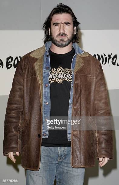 Eric Cantona arrives at the launch of Nike's 'Joga Bonito' at the Truman Brewery on February 7 2006 in London England Wayne Rooney Rio Ferdinand...