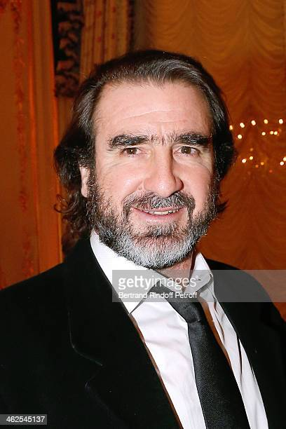 Eric Cantona at the Chaumet's Cocktail Party for Cesar's Revelations 2014 at Musee Chaumet followed by a dinner at Hotel Meurice on January 13 2014...