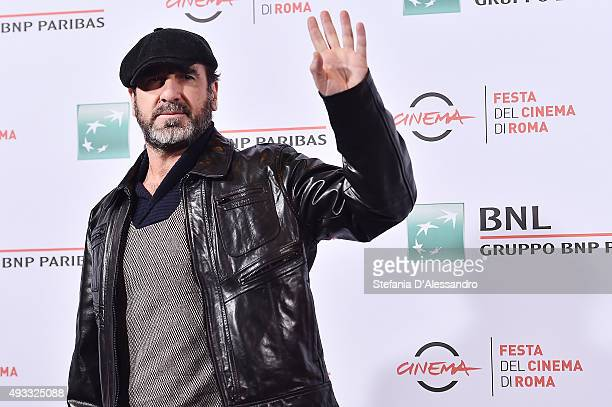 Eric Cantona attends a photocall for 'Mad Kings' during the 10th Rome Film Fest on October 19 2015 in Rome Italy
