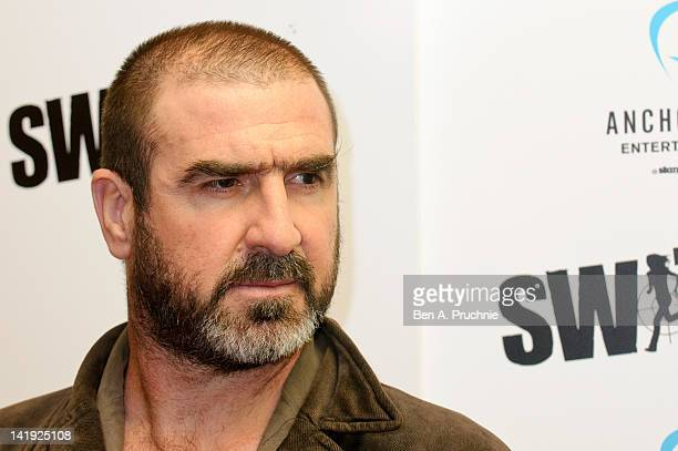 Eric Cantona attends the UK premiere of Switch at Cineworld Haymarket on March 26 2012 in London England