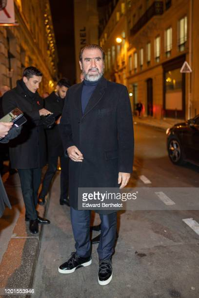 Eric Cantona French actor and former professional footballer / soccer player arrives at Sidaction Gala Dinner 2020 At Pavillon Cambon on January 23...