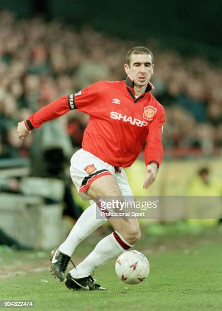 Eric Cantona in action for Manchester United circa 1996