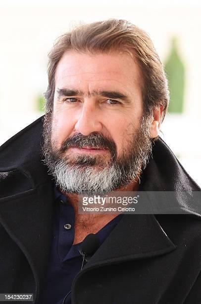 Eric Cantona is interviewed at MonteCarlo Bay prior to the Golden Foot Award 2012 ceremony on October 16 2012 in MonteCarlo Monaco
