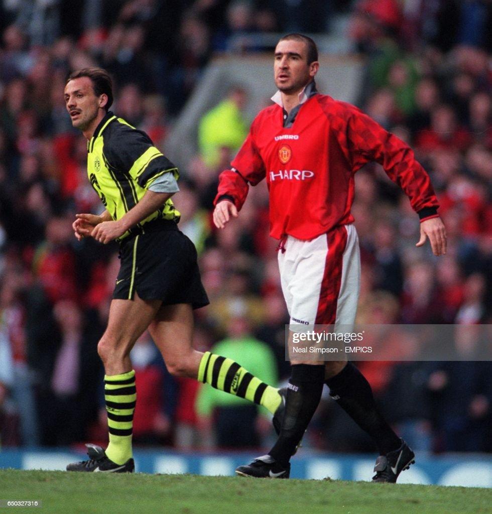 Eric Cantona Manchester United And Jurgen Kohler Borussia Dortmund News Photo Getty Images