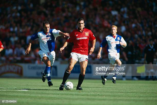 Eric Cantona of Manchester United during the Charity Shield against Blackburn Rovers Utd won 20