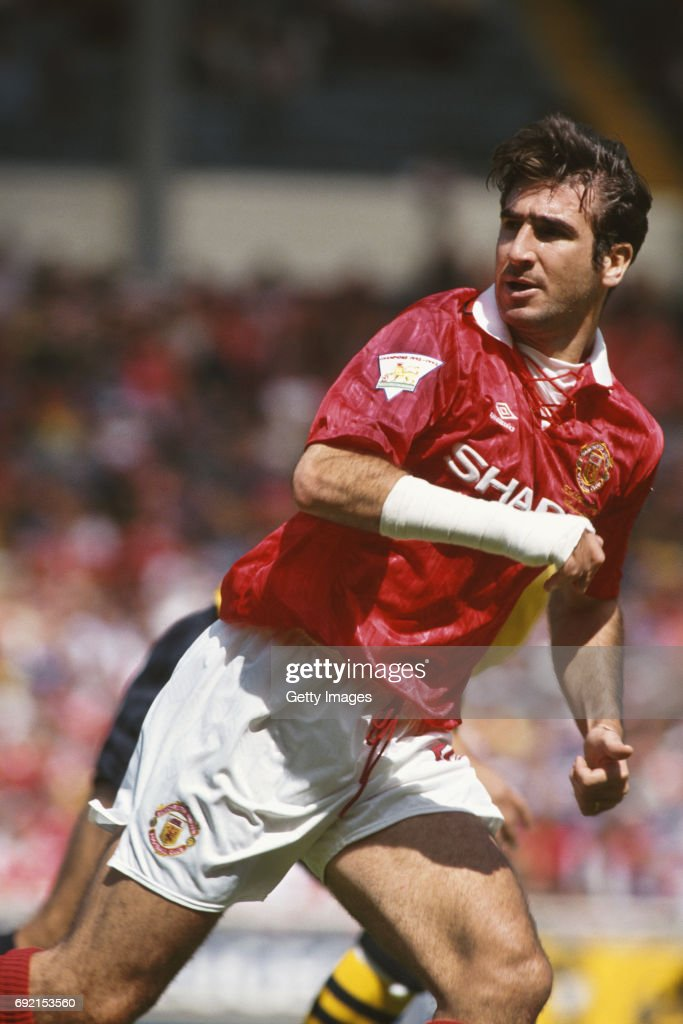 Eric Cantona Of Manchester United In Action During The 1993 FA Charity Shield Against Arsenal On