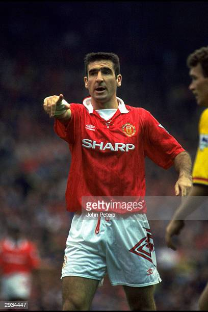 Eric Cantona of Manchester United in action during the FA Carling Premiership match between Chelsea v Manchester United at Stamford Bridge on...