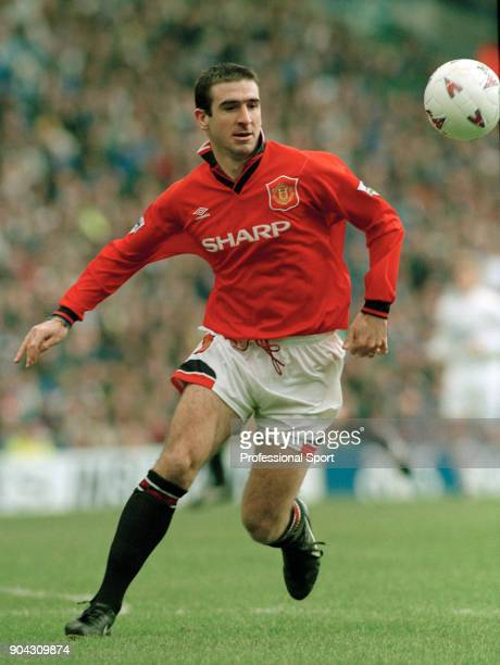 Eric Cantona of Manchester United in action during the FA Carling Premiership match between Leeds and Manchester United at Elland Road on December 24...