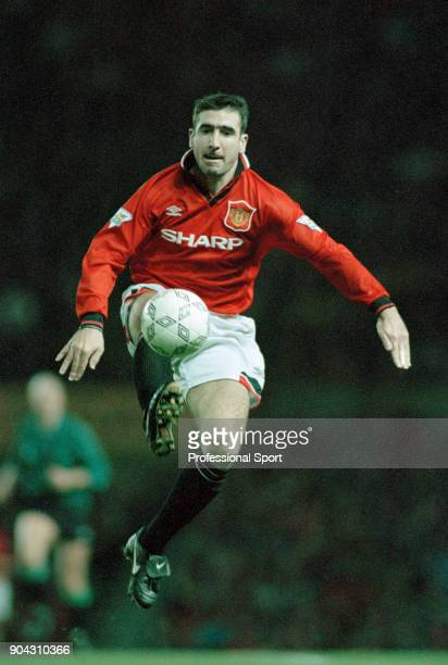 Eric Cantona of Manchester United in action during the FA Carling Premiership match between Wimbledon and Manchester United at Selhurst Park on...