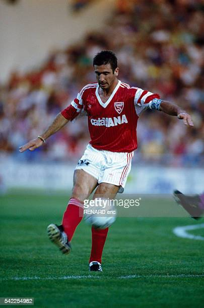 Eric Cantona playing for Nimes Olympique