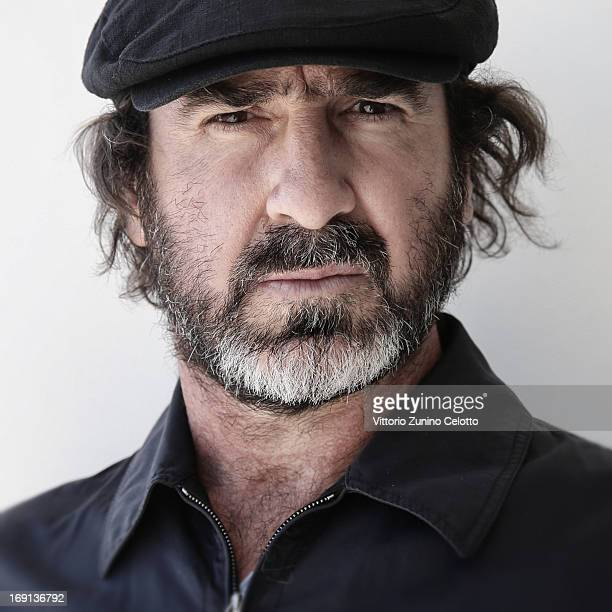 Eric Cantona poses during 'Les Recontres D'Apres Minuit' Portrait Session as part of the 66th Annual Cannes Film Festival at Nespresso Beach on May...