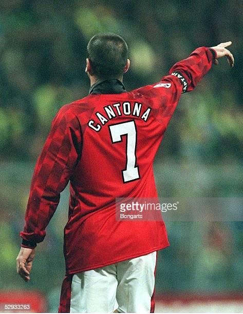 FUSSBALL DORTMUND MANCHESTER 10 090497 Eric CANTONA/Manchester United