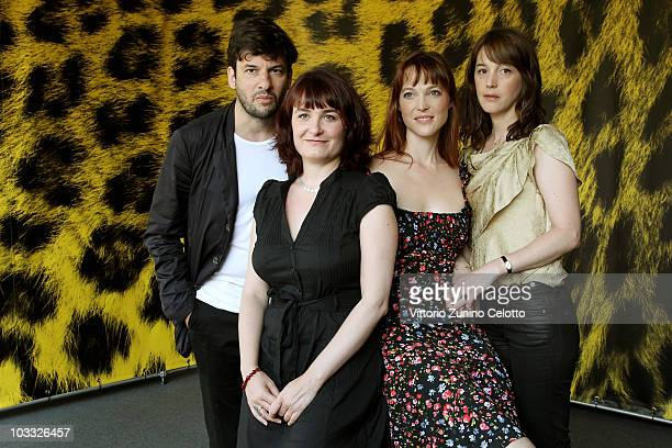Eric Caravaca Stephanie Chuat Veronique Reymond Florence Loiret Caille attend La Petite Chambre photocall during the 63rd Locarno Film Festival on...