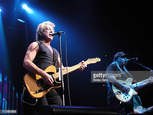 Eric Carmen and Wally Bryson of Raspberries during Raspberries in Concert September 17 2005 at House of Blues in Atlantic City New Jersey United...