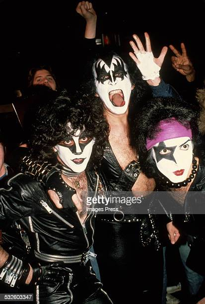 Eric Carr Gene Simmons and Paul Stanley circa 1980 in New York City
