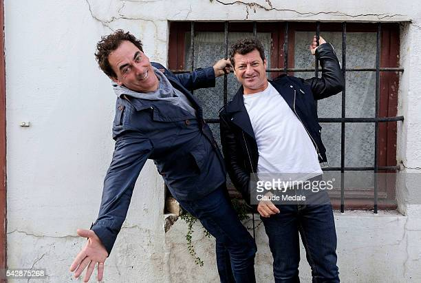 Eric Carriere and Francis Ginibre actors in the movie 'Repas de Famille'