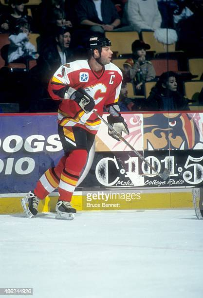 Eric Charron of the Saint John Flames skates on the ice during an AHL game in January 1999