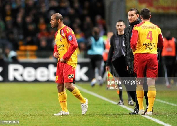 Eric CHELLE / Franck QUEUDRUE Lens / Saint Etienne 20eme journee de Ligue 1