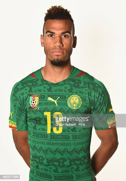 Eric Choupo Moting of Cameroon poses during the official FIFA World Cup 2014 portrait session on June 9 2014 in Vitoria Brazil