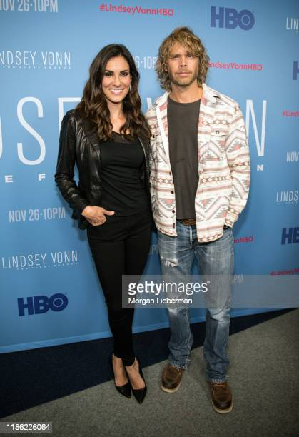 Eric Christian Olsen and Daniela Ruah arrive at the premiere of HBO's Lindsey Vonn The Final Season at Writers Guild Theater on November 07 2019 in...