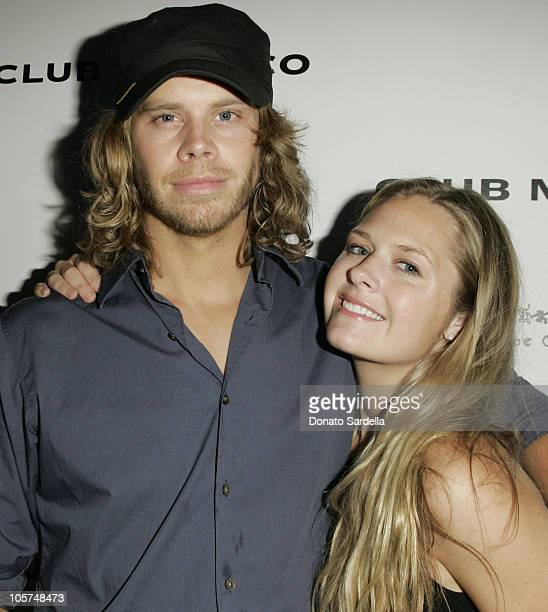 Eric Christian Olsen and guest during Launch Of Club Monaco Home Benefiting A Place Called Home at Club Monaco in West Hollywood, California, United...