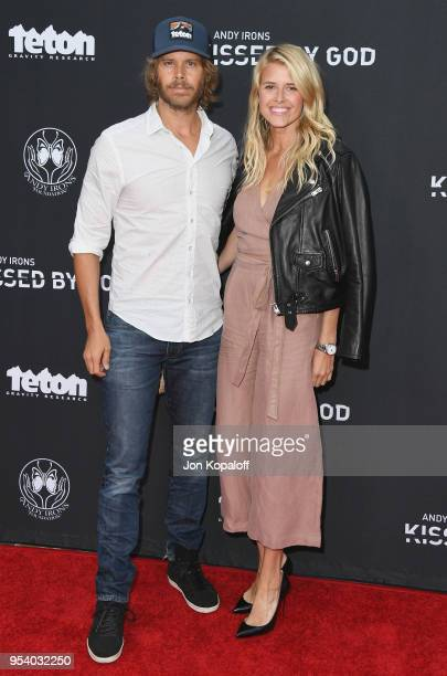 Eric Christian Olsen and Sarah Wright attend Teton Gravity Research's Andy Iron's Kissed By God World Premiere at Regency Village Theatre on May 2...