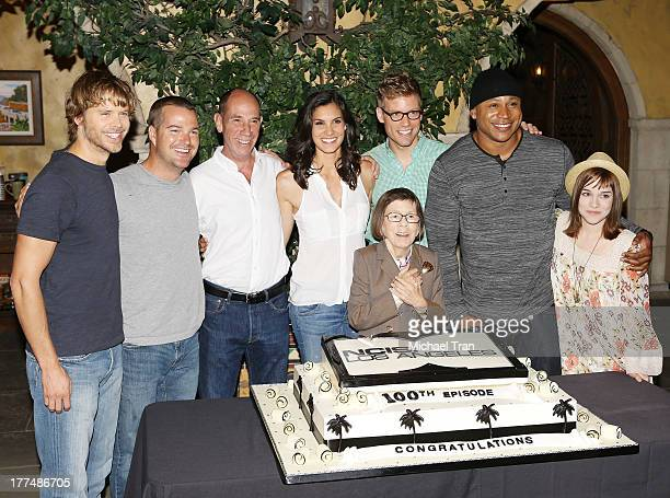 Eric Christian Olsen Chris O'Donnell Miguel Ferrer Daniela Ruah Linda Hunt Barrett Foa LL Cool J and Renee Felice Smith attend the 'NCIS Los Angeles'...