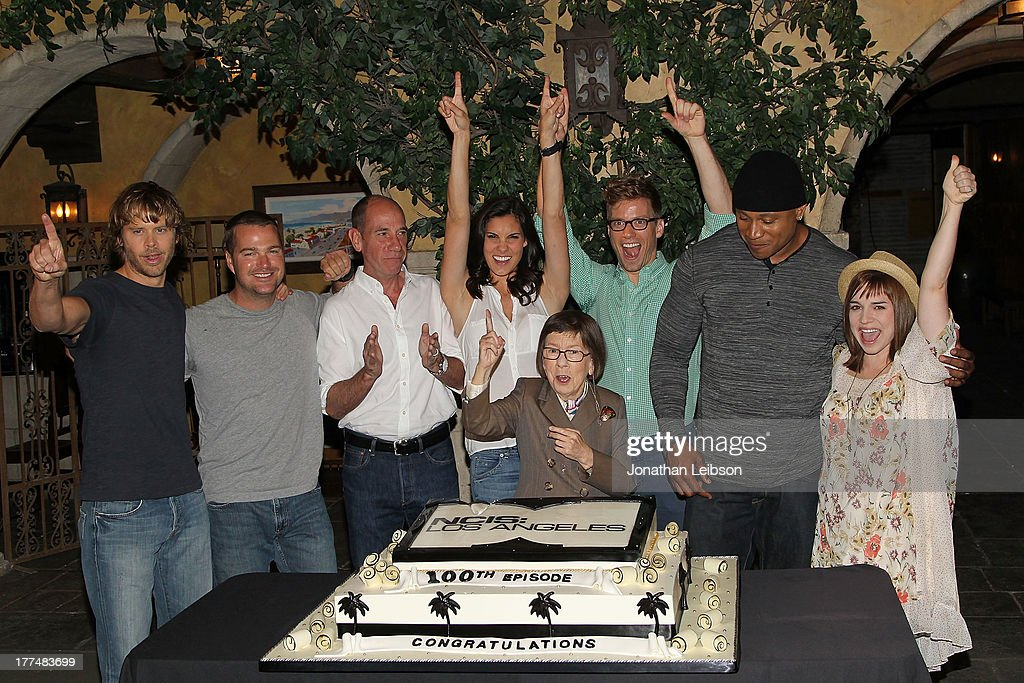 """NCIS: Los Angeles"" 100th Episode Cake-Cutting Ceremony"