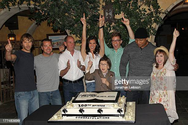Eric Christian OlsenChris O'Donnell Miguel Ferrer Daniela Ruah Linda Hunt Barrett Foa LL Cool J and Renee Felice Smith attend the 'NCIS Los Angeles'...
