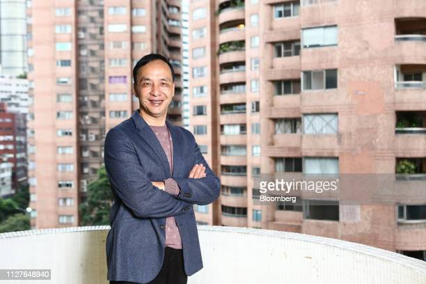 Eric Chu, a presidential candidate from the Kuomintang party, poses for a photograph in Taipei, Taiwan, on Monday, Feb. 25, 2019. Leading Taiwan...