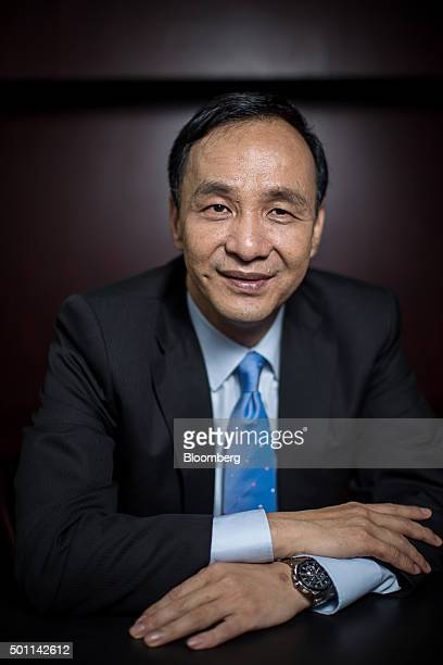 Eric Chu, presidential candidate and chairman of Taiwan's ruling party Kuomintang, poses for a photograph following an interview at the party's...