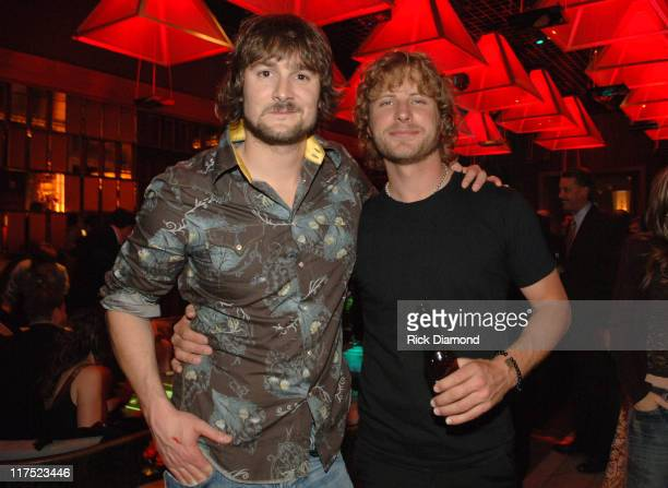 Eric Church and Dierks Bentley during 41st Annual Academy of Country Music Awards Capitol Records After Party at Tabu at MGM Hotel in Las Vegas...