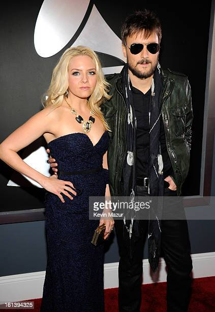 Eric Church and Katherine Church attends the 55th Annual GRAMMY Awards at STAPLES Center on February 10 2013 in Los Angeles California