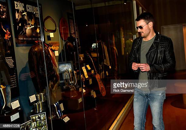 Eric Church attends the 'Eric Church Inside The Outsider' exhibition at the Country Music Hall of Fame and Museum on September 17 2015 in Nashville...