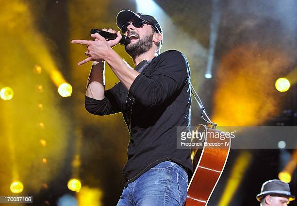 Eric Church performs at LP Field during the 2013 CMA Music Festival on June 6, 2013 in Nashville, Tennessee.