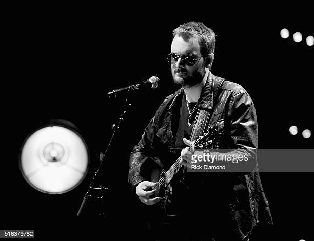 Eric Church performs at The Life Songs of Kris Kristofferson produced by Blackbird Presents at Bridgestone Arena on March 16 2016 in Nashville...
