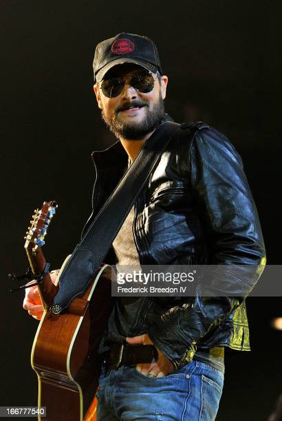 Eric Church performs during Keith Urban's Fourth annual We're All For The Hall benefit concert at Bridgestone Arena on April 16 2013 in Nashville...