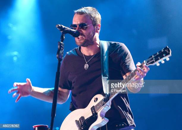 Eric Church performs during the 2014 CMA Festival at LP Field on June 6 2014 in Nashville Tennessee