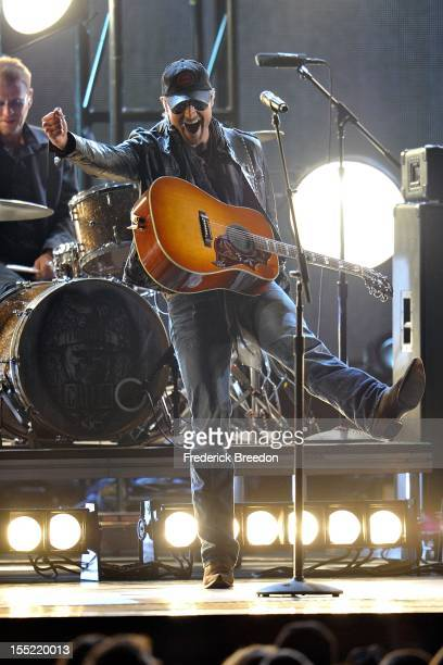 Eric Church performs during the 46th annual CMA awards at the Bridgestone Arena on November 1, 2012 in Nashville, Tennessee.
