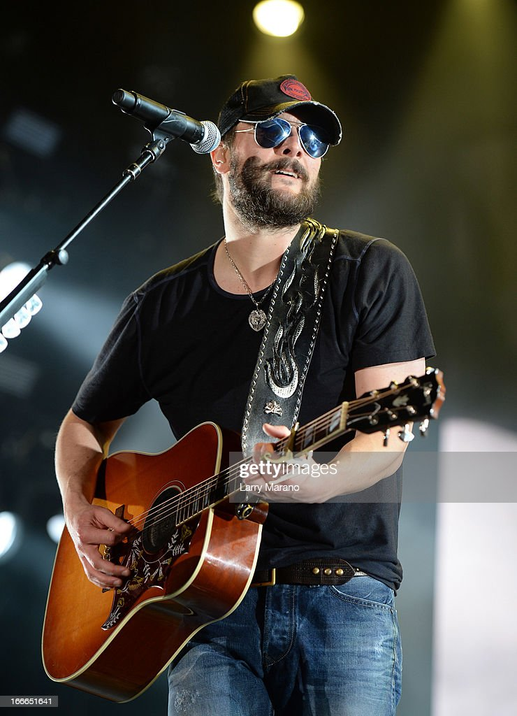 Eric Church performs during the Rock The Oceans Tortuga Festival on April 14, 2013 in Fort Lauderdale, Florida.