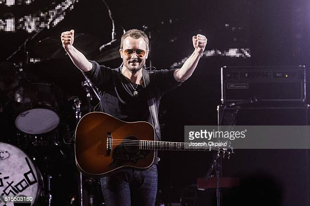 Eric Church performs on day 3 of C2C Country 2 Country festival at The O2 Arena on March 13 2016 in London England