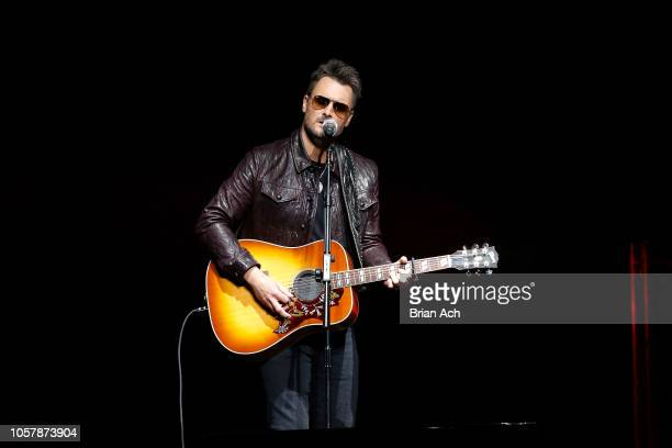 Eric Church performs on stage at The New York Comedy Festival and The Bob Woodruff Foundation present the 12th Annual Stand Up For Heroes event at...