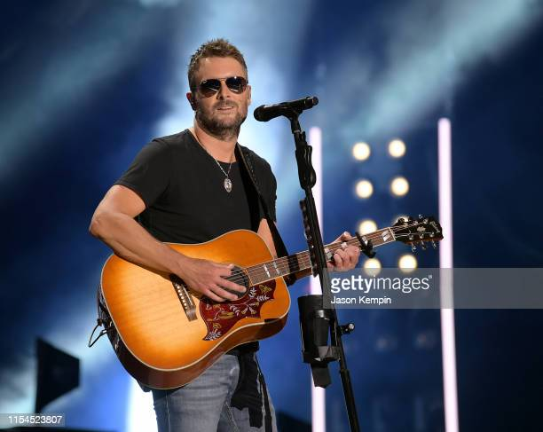 Eric Church performs on stage during day 2 for the 2019 CMA Music Festival on June 07 2019 in Nashville Tennessee