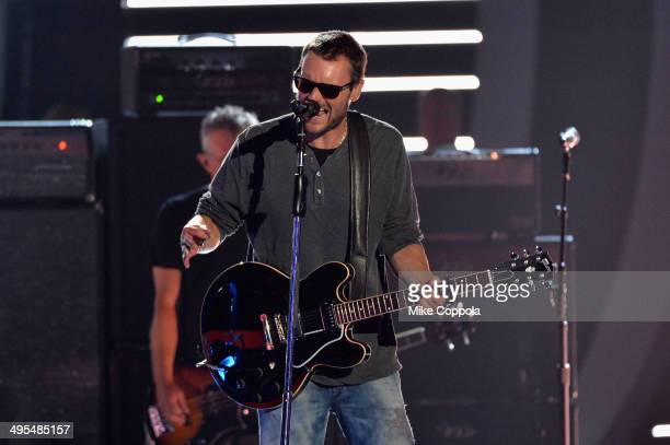 Eric Church performs onstage at the 2014 CMT Music Awards Rehearsals Day 2 at Bridgestone Arena on June 3 2014 in Nashville Tennessee