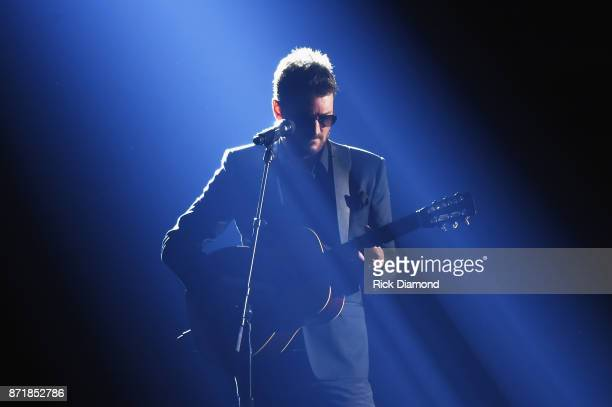 Eric Church performs onstage at the 51st annual CMA Awards at the Bridgestone Arena on November 8 2017 in Nashville Tennessee