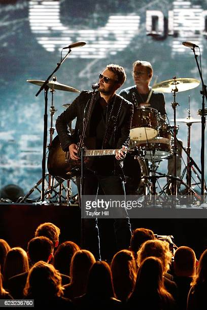 Eric Church performs onstage during the 50th annual CMA Awards at the Bridgestone Arena on November 2 2016 in Nashville Tennessee