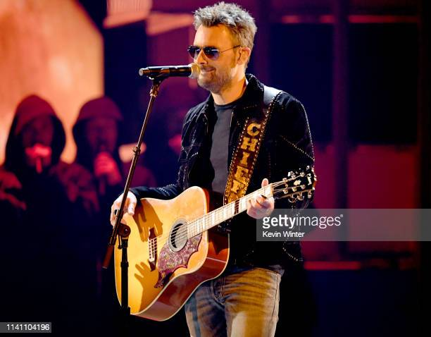 Eric Church performs onstage during the 54th Academy Of Country Music Awards at MGM Grand Garden Arena on April 07 2019 in Las Vegas Nevada