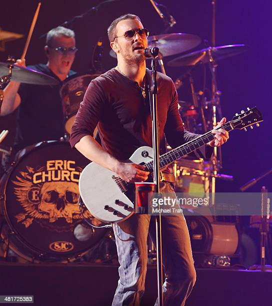 Eric Church performs onstage during the iHeartRadio Country Festival at the Frank Erwin Center on March 29 2014 in Austin Texas