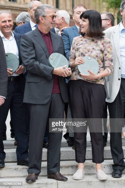 Eric Clapton and Catherine Mayer attend the launch of the Royal Albert Hall 'Walk Of Fame' at Royal Albert Hall on September 4 2018 in London England