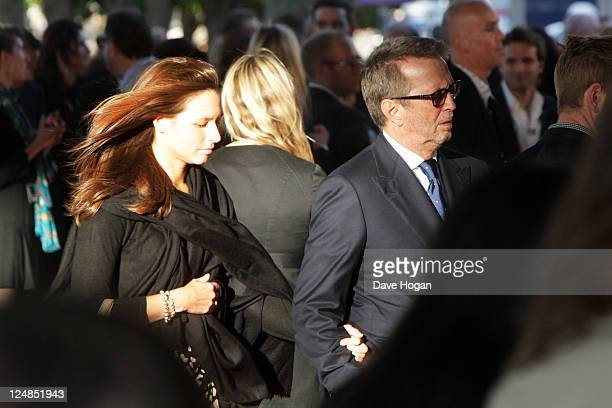 Eric Clapton and his wife Melia McEnery attend the UK premiere of Tinker Tailor Soldier Spy at The BFI Southbank on September 13 2011 in London...